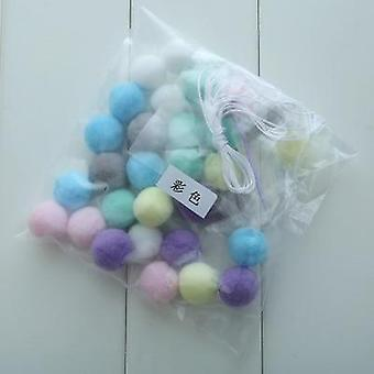 Handmade Colored Macaron Decoration With Balls For Baby Room Decor