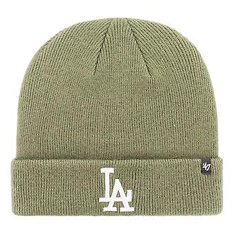47 Brand Los Angeles Dodgers Raised Cuff Knit Beanie - Moss