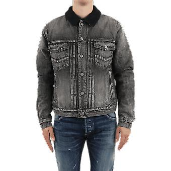 Balmain Embroidered Monogram Denim Jkt Grey UH18035Z0760PAOuterwear