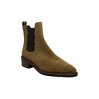 Coach Womens bowery Suede Almond Toe Ankle Fashion Boots