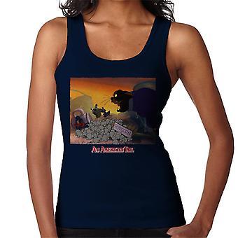 en amerikansk hale kosakk katt popcorn kvinner's vest