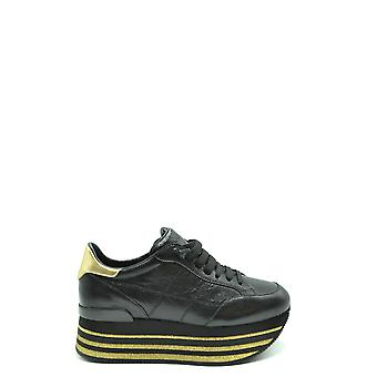 Hogan Ezbc030241 Women's Black Leather Sneakers