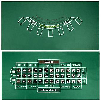 Blackjack ja ruletti pöydän huopa