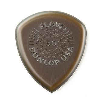 Jim dunlop 547p3.00 flux jumbo grip picks, 3 mm, ensemble de 3 pièces 3.0mm player pack 3 sélections