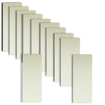 10 Frost White Card Inserts DL Size 1 (Large) 204 x 95mm