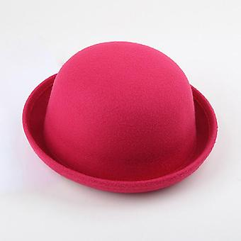 Women's Fedoras Hats Fall Winter Fashion Warm Wool Felt  Retro Animal Cap