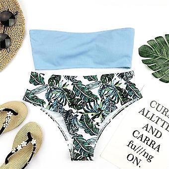 Sexy Bikini Set Ženy Květinový tisk Plavky Push Up Pad koupání Beachwear