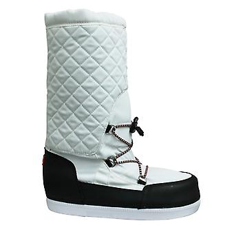 Hunter Original Snow Quilted Womens Boots Side Zip White WFT2012WWR WHB
