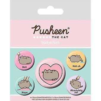 Pusheen no Badge Set (5 kpl pakkaus)