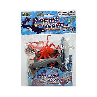 Animal World 8st Sea WorldIn karjahahmot Leikkisetti 10-13cm