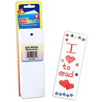 Mighty Bright Bookmarks, 100 Ultra White
