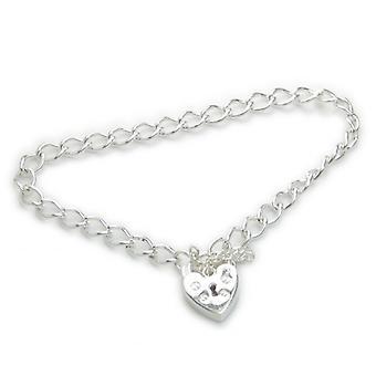 6 Inch Childs Sterling Silver Charm Bracelet .925 X1 Charms Bracelets - 6