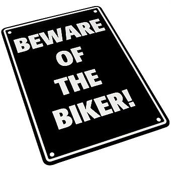Bike It Aluminium Parkeerbord - Pas op voor de fietser
