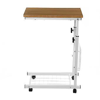 C6 livre de elevação de roda bloqueável laptop mesa de aço de aço suporte de cama suporte de cama suporte de mesa mackbook com slot de armazenamento de revista