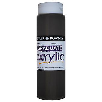 Daler Rowney 123500247 Graduate Acrylic Paint 500ml Raw Umber