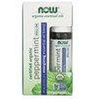 Now Foods, Roll-On di menta piperita biologica certificata, 10 ml