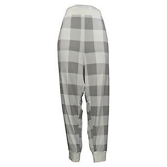 Cuddl Duds Women's Petite Jersey Jogger Pajama Pants Grey A381803