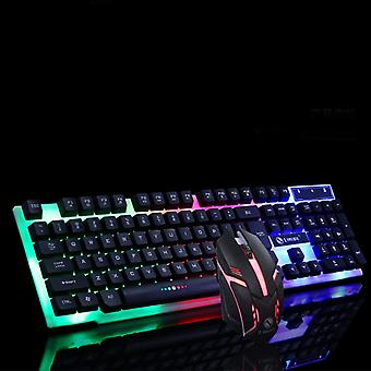 Rainbow Gaming Keyboard Mouse Set