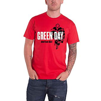 Green Day T Shirt American Idiot Heart Grenade Band Logo new Official Mens Red