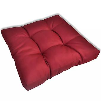 Rests seat cushion upholstery seat cushion 60 x 60 x 10 cm red