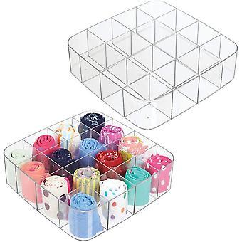 HanFei Aufbewahrungsbox mit 16 Fchern – praktische Schrankbox fr das Schlafzimmer –
