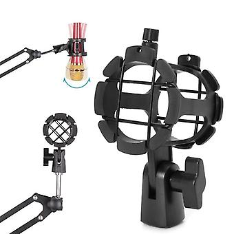Bearable Handheld Condenser Microphone Shock Mount Clip, Mic Holder Stand,