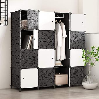 PREMAG Portable Wardrobe for Hanging Clothes, Combination Armoire, Modular Cabinet for Space Saving,