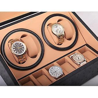 Pu watch storage box with automatic winder