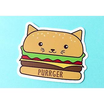 Purrger-burger Cat Vinyl Sticker