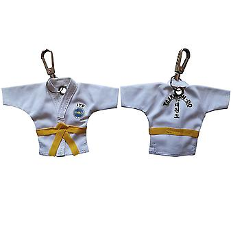 Keychain Taekwondo Uniform, Cartoon Pendant, Sport, Keepsake, Key Button Ring