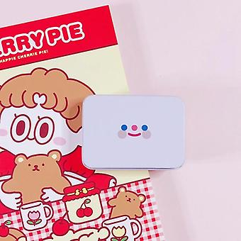 Simple Smiley Face Storage Box Hand Account Tape Sticker Stationery Box
