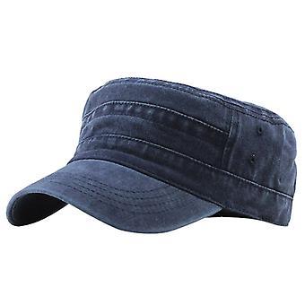 Casual Cotton Soldier Denim Sun Hat Visor Solid Flat