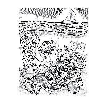 Spellbinders Stamp ja Die Set - Vesiympäristö