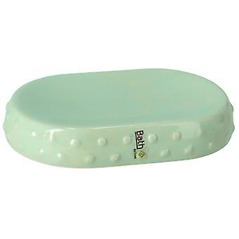 soap holder 15 x 2.5 cm ceramic green