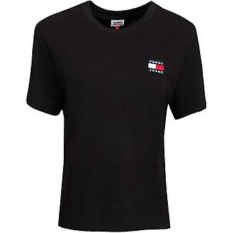 Tommy Jeans Badge Logo Crew Neck T-Shirt