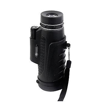 Telescopio monoculare 40x60 Ottica Zoom Lens + Clip + Treppiede per telefono (nero)
