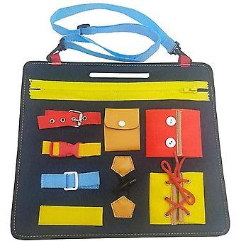 FengChun Montessori Spielzeug fr frhe Lernen Tragen Sie Kleidung Lernbuch Filzbrett Kinderspielzeug