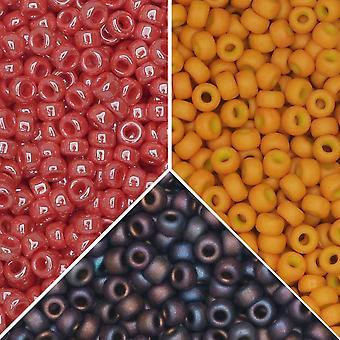 Exclusive Beadaholique Designer Palette, Miyuki Seed Bead Mix, Pyöreä 11/0, 25,5 grammaa, Charleston