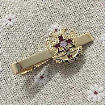 Scottish rite rose freemason tie clip