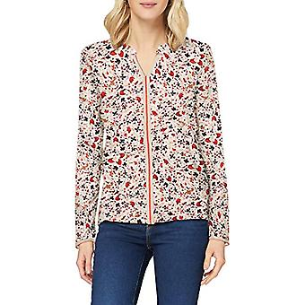 Tom Tailor Alloverprint T-Shirt, 25046-Beige Floral Pattern, S Woman