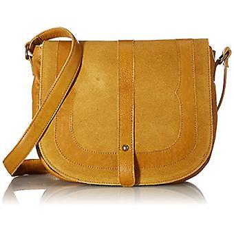 PIECES PCDILARA LEATHER CROSS BODY FC, Women's Folder Bag, Gold Mustard, One Size Fit