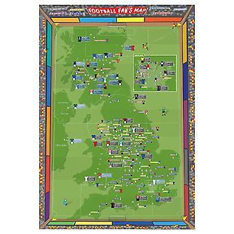 Medium Football Fan's Stadium Map (Paper)