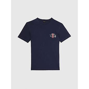 Diesel Uml T-diego Logotipo Impresso Cotton Navy T-shirt