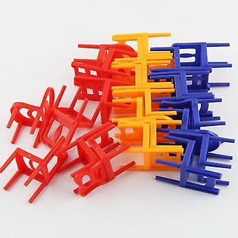 Mini tuoli tasapaino lohkot lelu muovi kokoonpano lohkot pinoaminen tuolit Lapset