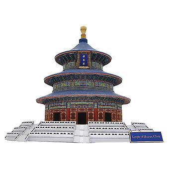 Для DIY Храм Неба, Китай Крафт Бумага 3D DIY Образование Игрушки Ручной Работы Взрослые Головоломка WS16575