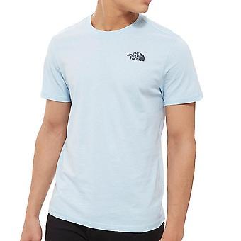 The North Face Redbox Heren Korte Mouw Fashion Casual T-Shirt Top T-Shirt Pale Blue