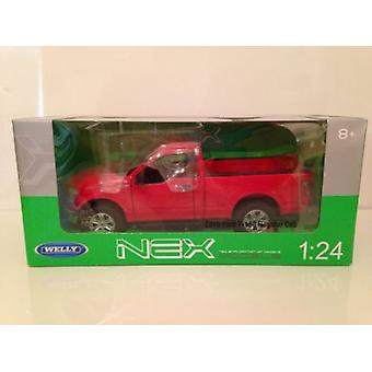 Ford F-150 2015 Red 1:24 Scale Welly 24063R