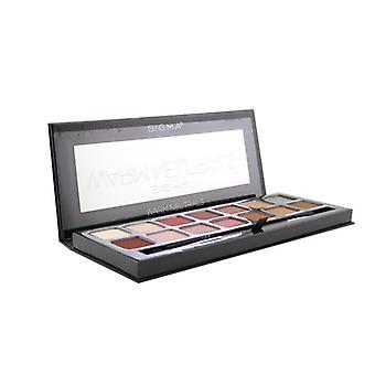 Sigma Beauty Warm Neutrals Eyeshadow Palette (14x Eyeshadow + 1x Dual Ended Brush) 19.04g/0.67oz