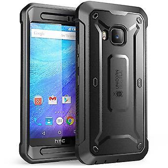 HTC One M9 Case, SUPCASE, Unicorn Beetle Pro Series Fullbody Rugged Holster Case-Black/Black