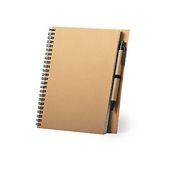 ペン146398リサイクルされた段ボール80枚付きスパイラルノートブック